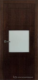 Дверь Краснодеревщик 80 08 с фурнитурой, Дуб мореный натуральный шпон