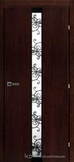 Дверь Краснодеревщик 73 02 с фурнитурой, Мореный дуб натуральный шпон