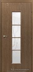 Дверь Краснодеревщик 50 66 (стекло лиана) с фурнитурой, Дуб риэль CPL